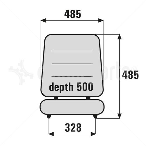 ORANGEPARTS 01012000C FORKLIFT SEAT REAPLACEMENT GS12