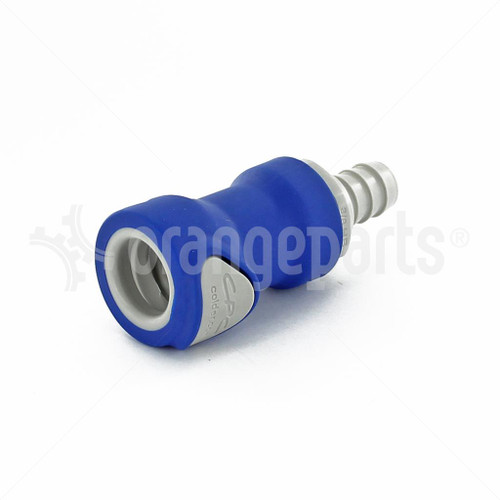 ORANGEPARTS 03441200 CONNECTOR 3/8 INCH 10 MM FEMALE BLUE BWT    BWT 09FBLU1
