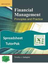 Spreadsheet TutorPack for Financial Management 9e