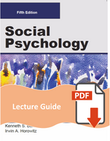 Lecture Guide for Social Psychology