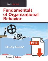 Study Guide for Fundamentals of Organizational Behavior