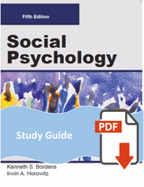 Study Guide for Social Psychology