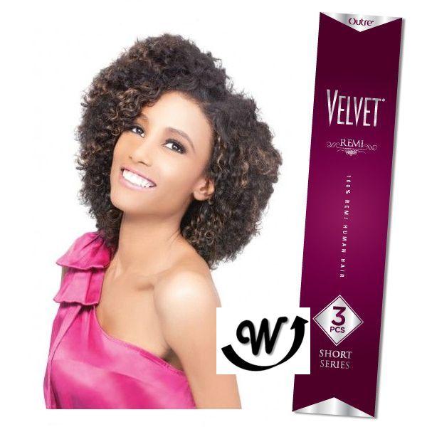 Outre 100% Remy Human Hair Weave Velvet Remi 3pcs BOHO CURL|WIG EXTENSION SALE