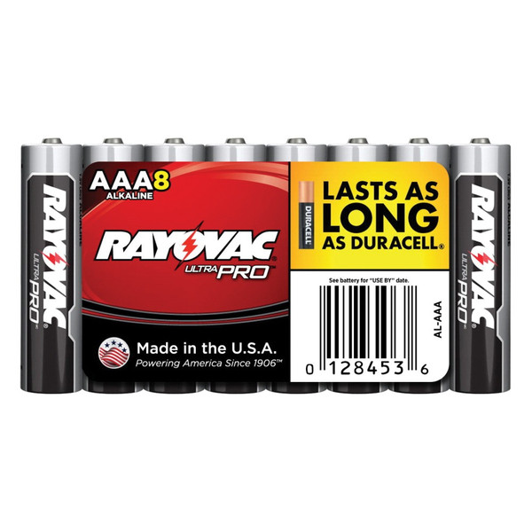 AAA Alkaline Batteries - 8 Pack