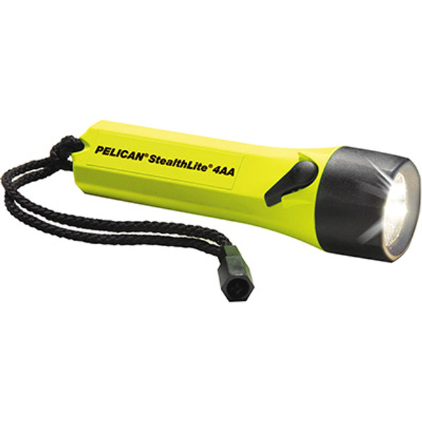Pelican 2400 Yellow Stealthlite 4aa Flashlight