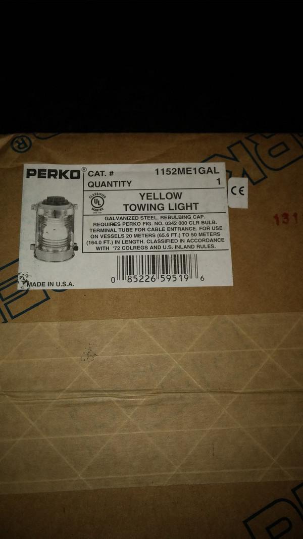 Perko 1152 ME1 Gal Yellow Towing Light