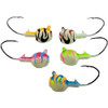 Deluxe Kryptonite Glow Walleye Jigs    These come as a pack of 5 and include 1 of each colour! 1/4 oz walleye jigs coated in Big Sky Flies & Jigs custom kryptonite glow powder paint. These jigs feature a 1/0 Eagle Claw Little Nasty hook for extra stick when the walleye bite. Bright attractive colours during the day make these a hit when the sun is out, but beware they pack a kryptonite glow punch after sundown when the walleye are feeding. These are a must have for any fishing trip!