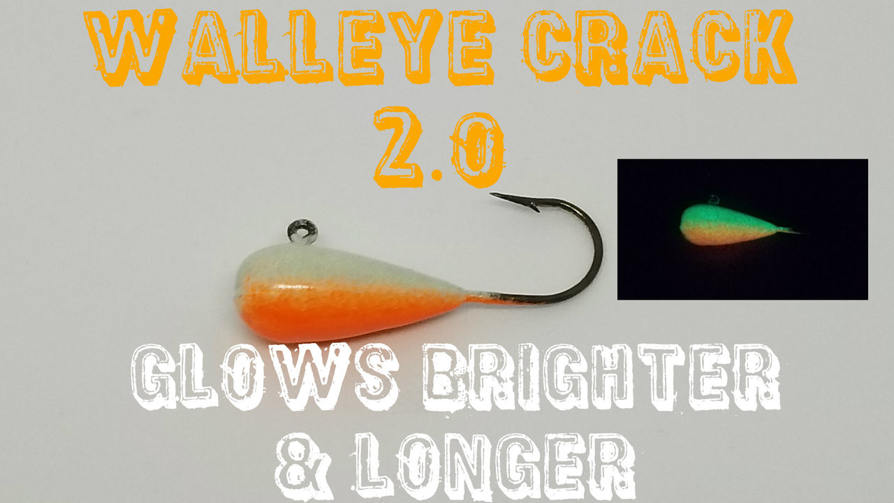 NEW and IMPROVED Walleye Crack 2.0 Brighter and longer Glow   We have Made the Kryptonite Glow Even BRIGHTER !!!!!!!   These are Poured on a # 2 Eagle Claw 570