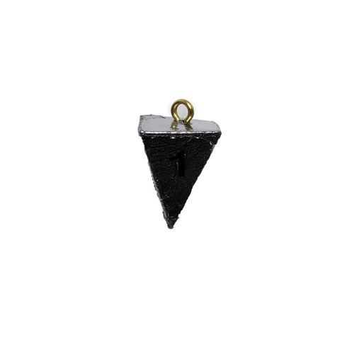 Great for all types of fishing, in both fresh and salt water Lead sinker; Pyramid shape Holds the bottom of rivers, lakes and oceans extremely well due to pyramid design