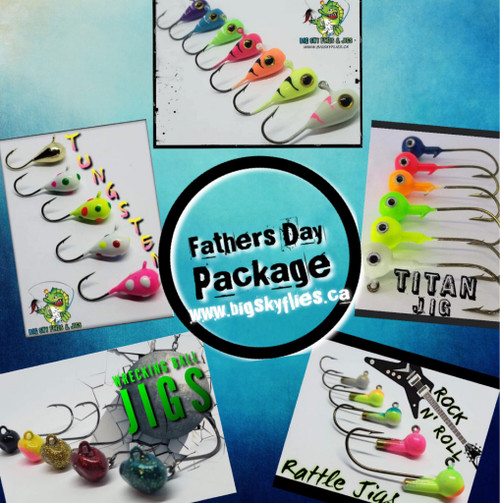 4 3mm Tungsten 8 3/16 Kaleidoscope Jigs Kryptonite Glow  6 3/8 Titan Jigs Kryptonite Glow 5 1/4 oz Wrecking Balls 5 Rock N Roll Rattle Jigs Kryptonite Glow  12 Ultra Minnows  2 3/8 oz Cyclone Jigs   $75.00