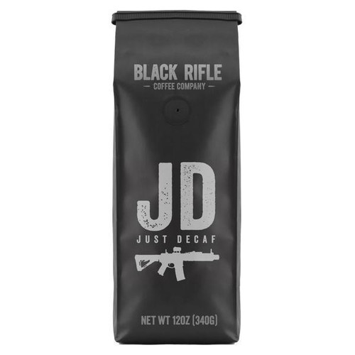 Description We like to keep it simple. So, here it is: Just Decaf. No surprises, no hipster beanies, and no skinny jeans.     This 100% Colombian medium/dark roast gives you delicious Black Rifle Coffee flavor without the caffeine.