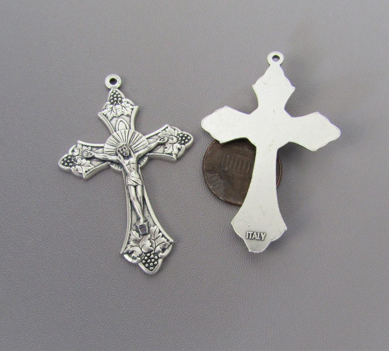 "GRAPE Rosary Crucifix 2"" LARGE"
