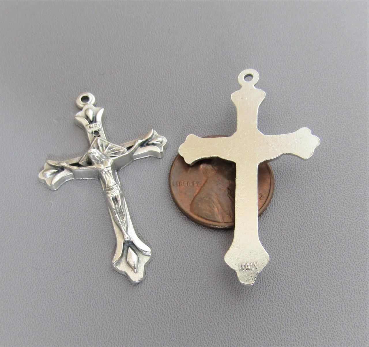 "Teardrop Rosary Crucifix 1.5"" -Lot 3"