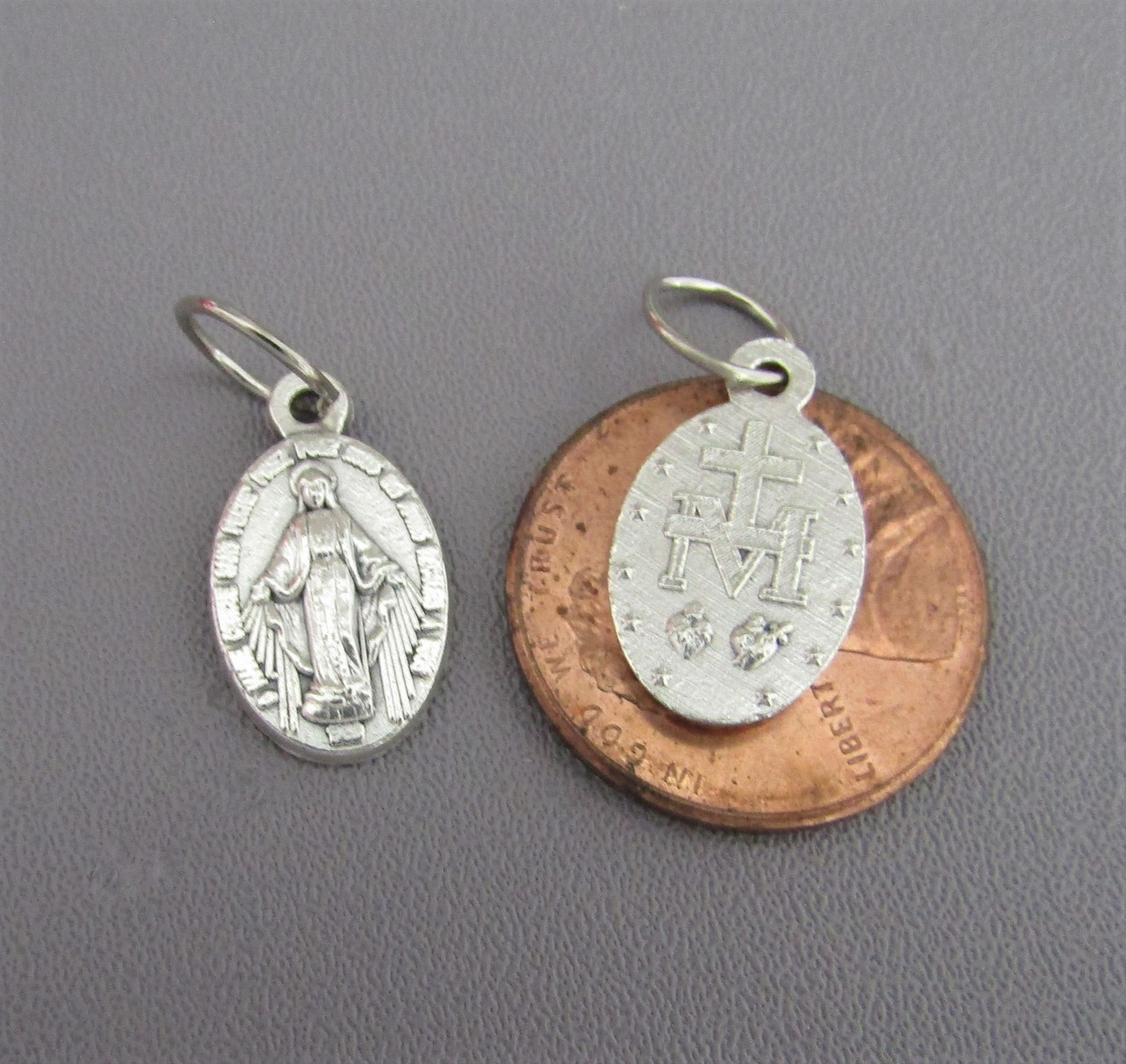 Miraculous Medal Charm SMALL ~Lot 6
