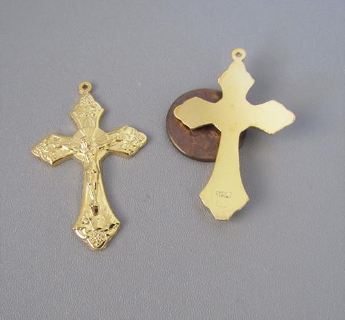 "GRAPE Rosary Crucifix 1.5"" GOLD -Lot 3"