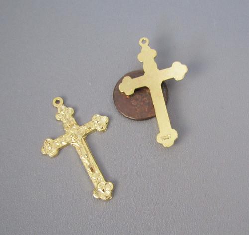 "LITURGY Rosary Crucifix 1.5"" GOLD -Lot 3"