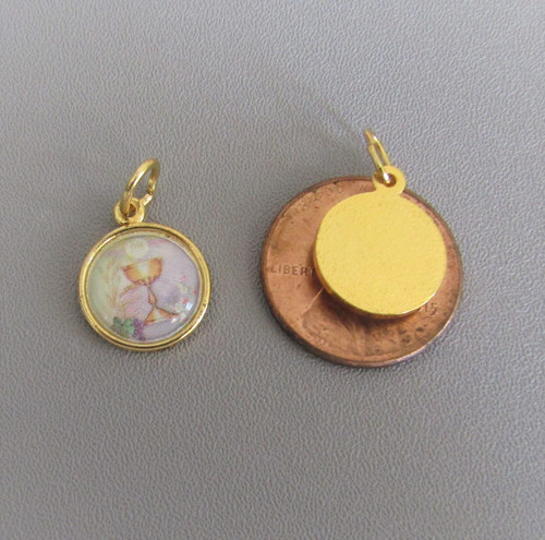1st First Communion Chalice SMALL Charm GOLD -Lot 3
