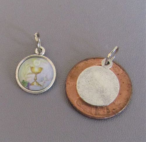 1st First Communion Chalice SMALL Charm Silver -Lot 3