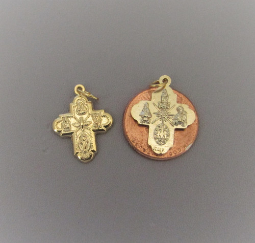 Four Way Medal Small GOLD ~ Lot 6