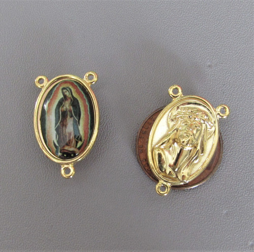Our Lady of Guadalupe Center Large GOLD -Lot 3
