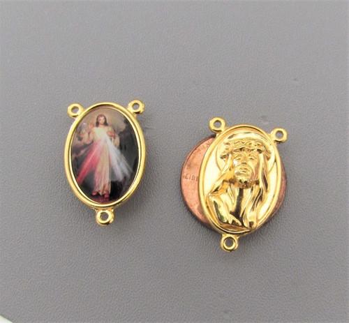 Divine Mercy Jesus Center Large GOLD -Lot 3