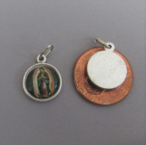 Lady of Guadalupe SMALL Color Charm Silver - Lot 3