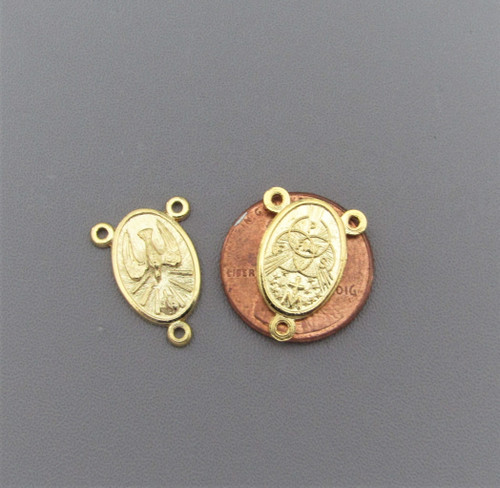 Confirmation Holy Spirit Rosary Center GOLD Oval -Lot 3