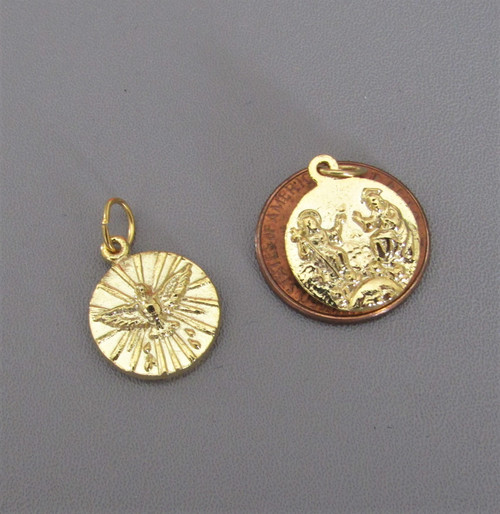 Holy Spirit CONFIRMATION Charm GOLD -Lot 3