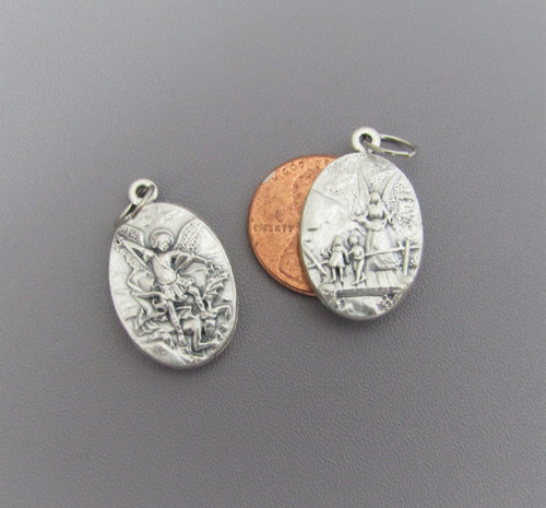 "OVAL 1"" Holy Medal Saint Michael / Guardian Angel - Lot 3"