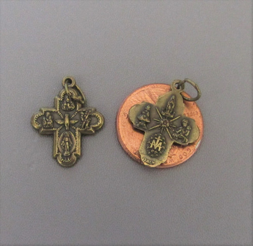 Four Way Medal SMALL Bronze ~ Lot 6