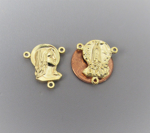 Face of Madonna/Fatima Rosary Center GOLD - Lot 3