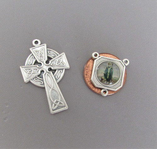 Rosary CENTER & CRUCIFIX Celtic Saint Patrick SMALL
