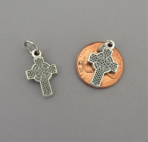 Tiny Celtic Cross Charm ~ Lot 3