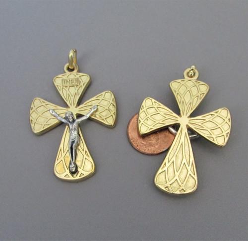 Harlequin Large Rosary Crucifix Gold