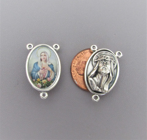 Mary Madonna Rosary Center Large COLOR - Lot 3