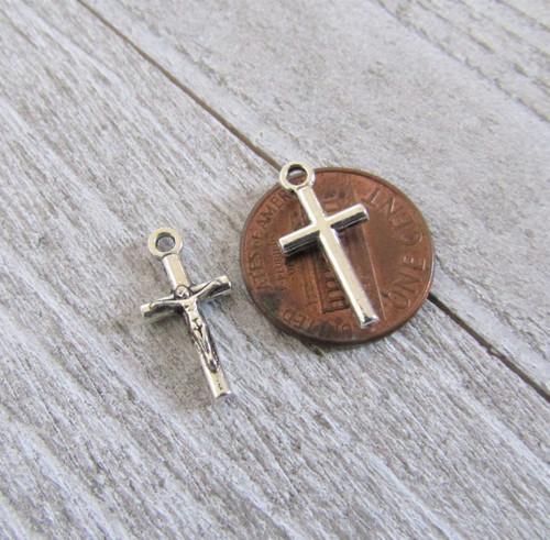 TINY Rosary Crucifix  ~ Set 12