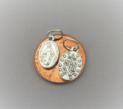 Miraculous Medal Charm TINY ~Lot 12
