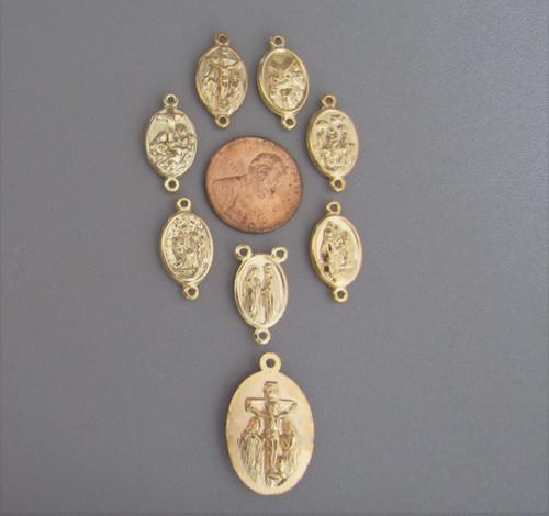 7 Sorrows Dolors Chaplet Set ~ 8 pc GOLD