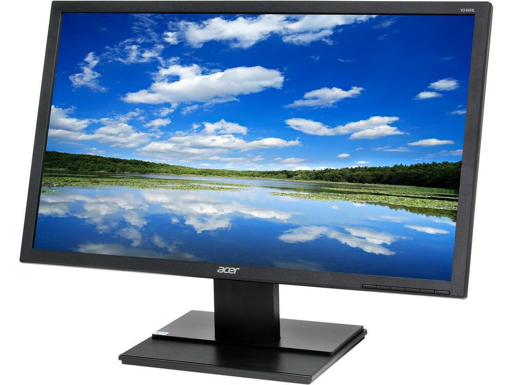 "Acer 24"" Widescreen LCD Monitor Display Full HD 1920 X 1080 5 ms 60Hz | V246HLBMDP"