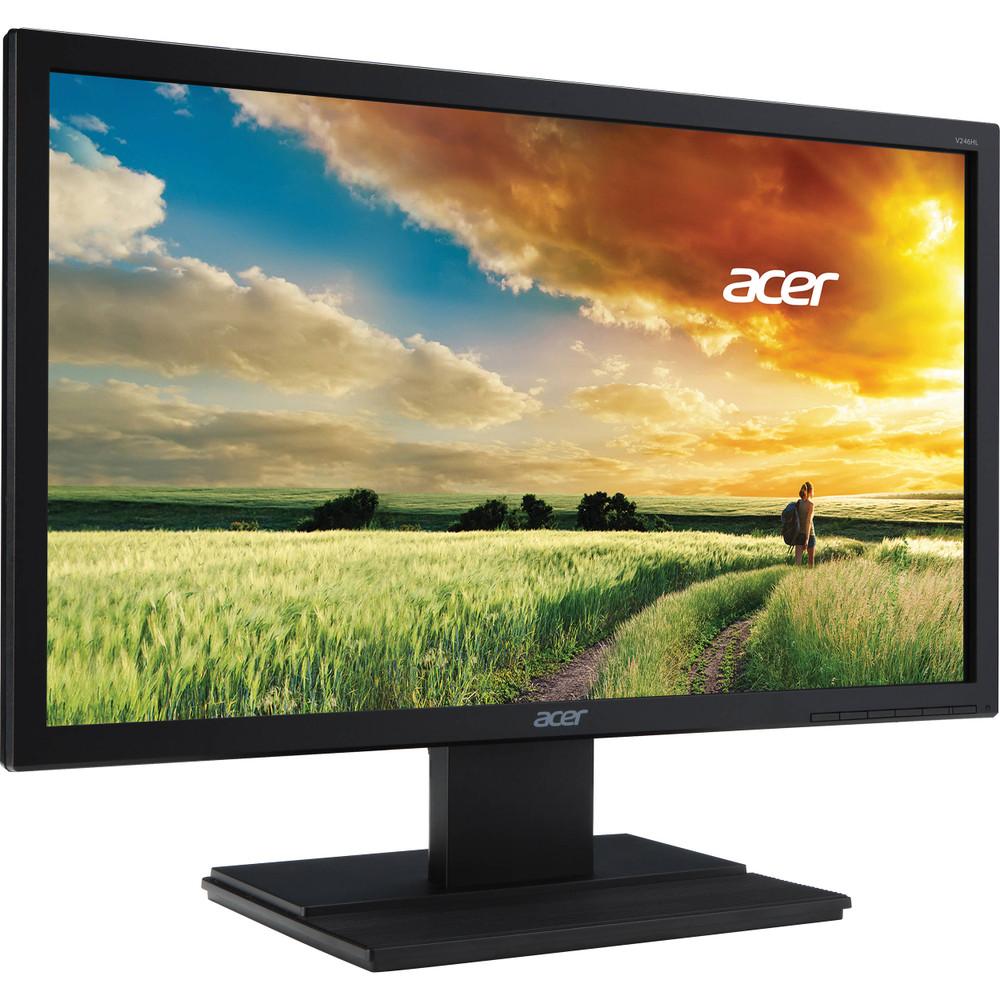 """Acer 23.6"""" Widescreen LCD Monitor Display Full HD 1920 X 1080 5 ms   V246HQL Cbd"""
