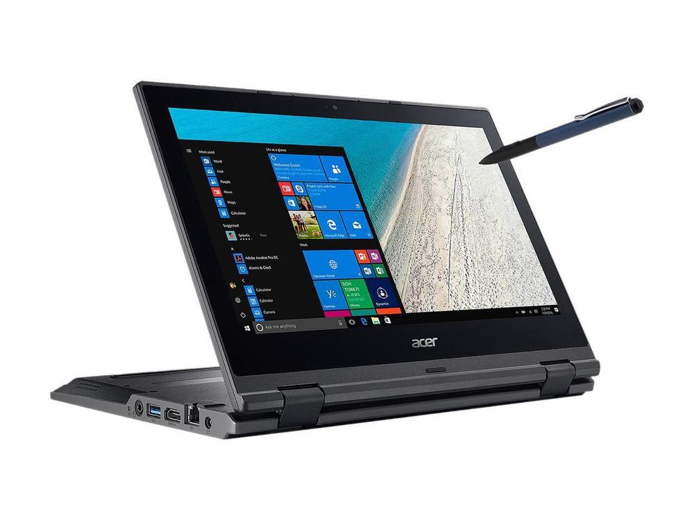 "Acer TravelMate Spin B1 - 11.6"" Laptop Intel Celeron 1.10 GHz 4GB Ram 64GB Flash Memory Windows 10 Pro   TMB118-RN-C6FD"