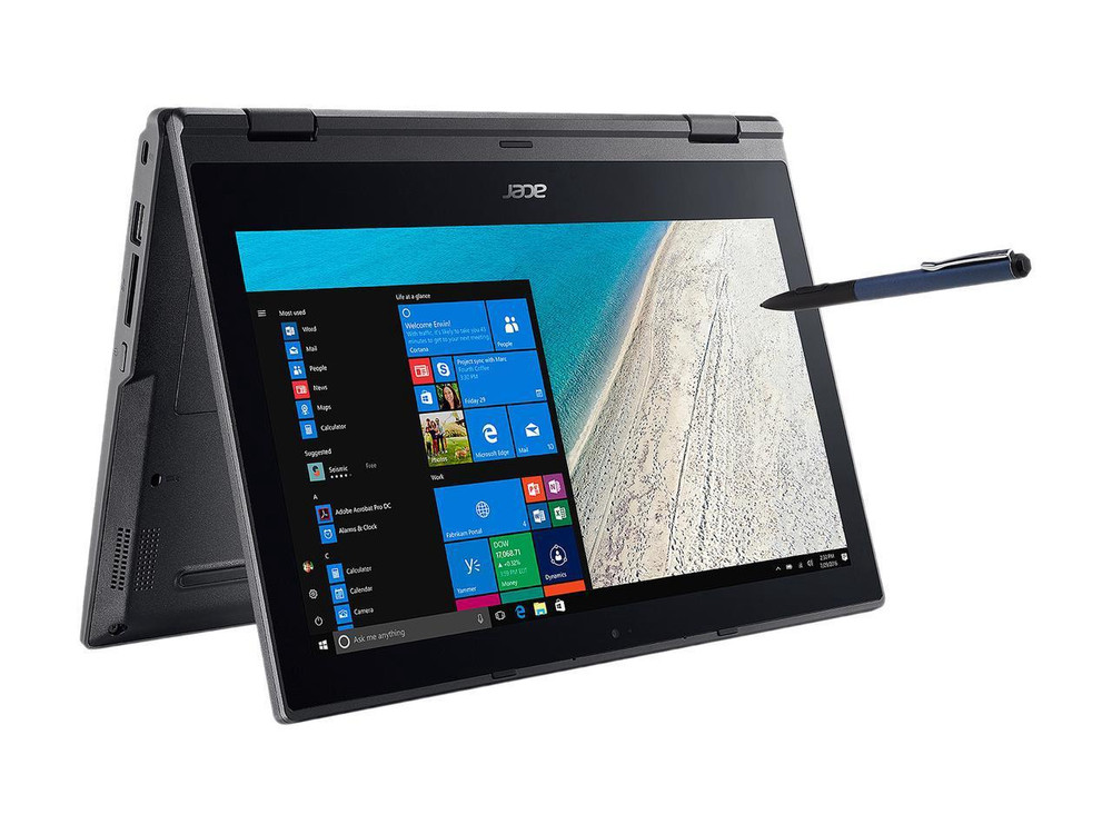 "Acer TravelMate Spin B1 - 11.6"" Laptop Intel Celeron 1.10 GHz 4GB Ram 64GB Flash Memory Windows 10 Pro 