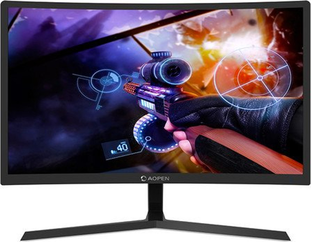 """AOPEN Gaming Series - 23.6"""" Curved LED Widescreen LCD Monitor Full HD 1920 x 1080 4ms 144Hz    24HC1QR"""