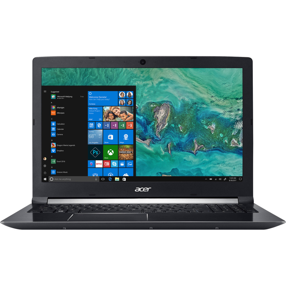 "Acer Aspire 7 - 15.6"" Laptop Intel Core i7-7850H 2.20GHz - NVIDIA GeForce GTX 1050 Ti 4GB - 8GB of Ram 256GB SSD Windows 10 Home 