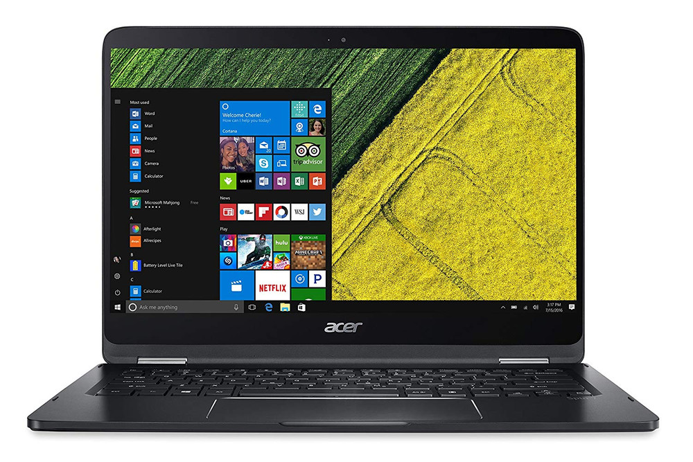 """Acer Spin 7 - 14"""" Laptop Intel Core i7-7Y75 1.30GHz 8GB Ram 256GB SSD Windows 10 Home   SP714-51-M5CD"""