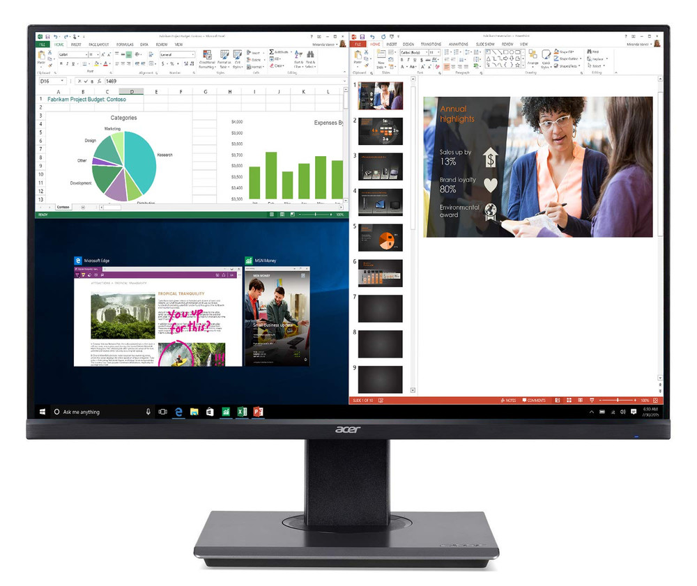 """Acer B7 25"""" Widescreen LCD Monitor Full HD 1920 x 1080 4ms 75 Hz 300 Nit IPS 
