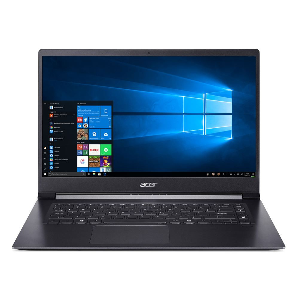 "Acer Aspire 7 - 15.6"" Laptop Intel Core i7-8705G 3.10GHz 8GB Ram 512GB SSD Windows 10 Home 
