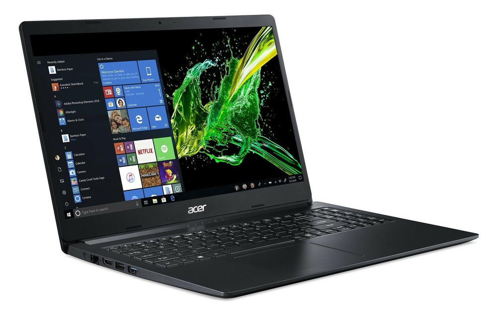 "Acer Aspire 1 15.6"" Laptop Intel Celeron N4000 1.1GHz 4GB Ram 64GB Flash Windows 10 Home S 