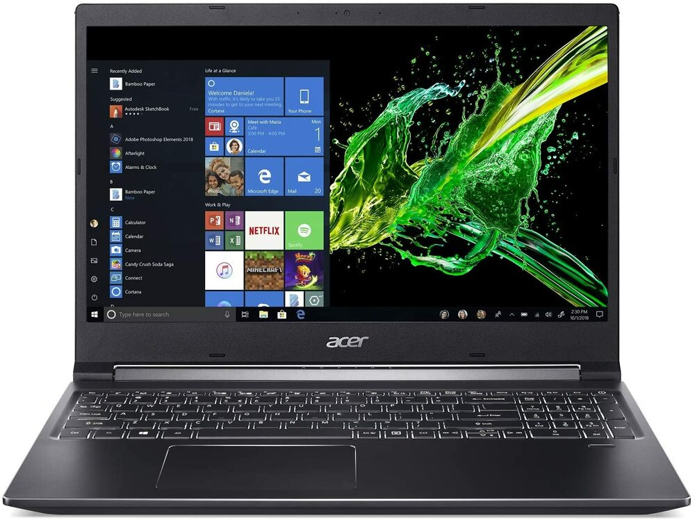 "Acer Aspire 7 - 15.6"" Laptop Intel Core i7-9750H 2.6GHz 16GB Ram 512GB SSD Windows 10 Home 