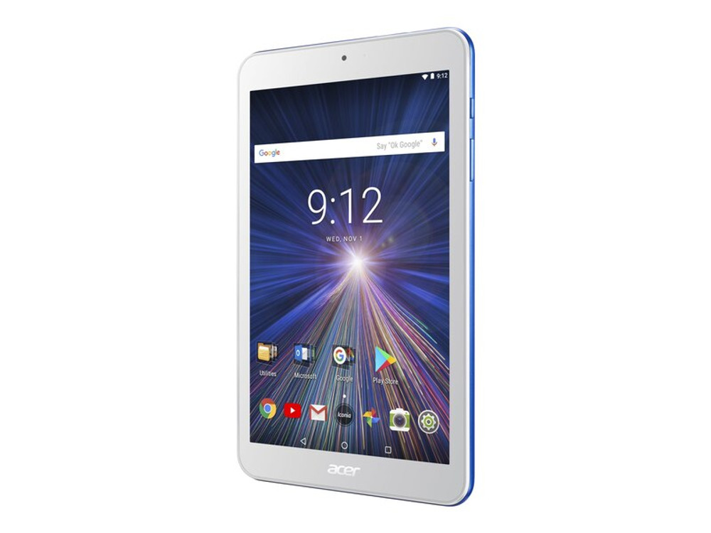 """Acer Iconia One - 8"""" Tablet ARM 1.3GHz 1GB RAM 16GB Flash Android 7.0 Nougat 
